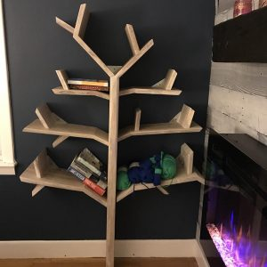 shelf tree and pin shelves windswept oak bookcase