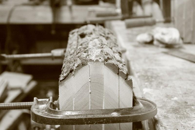 bark edge tree shelf trunk by bespoak interiors