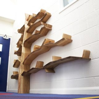 oak tree shelf unit