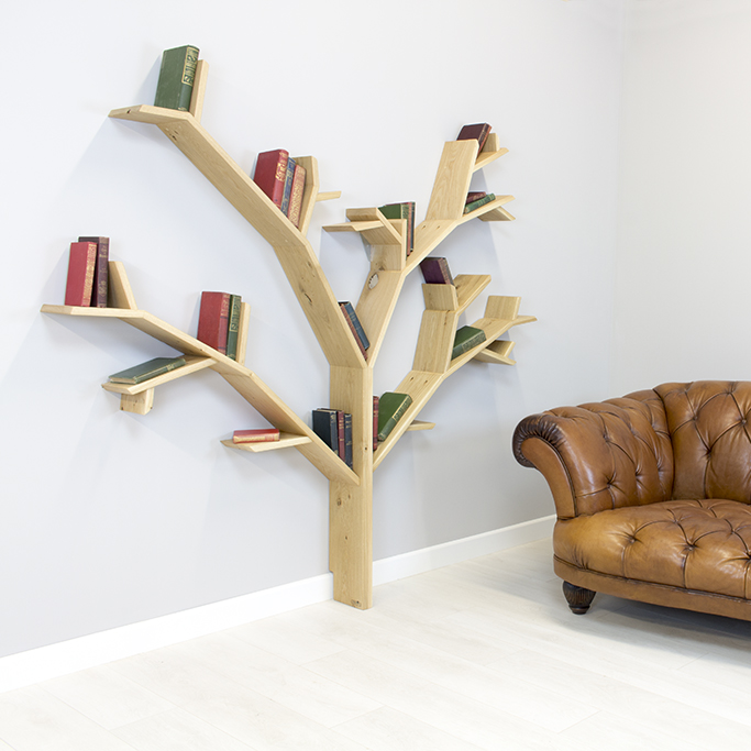 the hazel tree shelf in solid oak product image