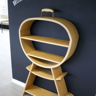 wooden barbecue shelf by bespoak interiors