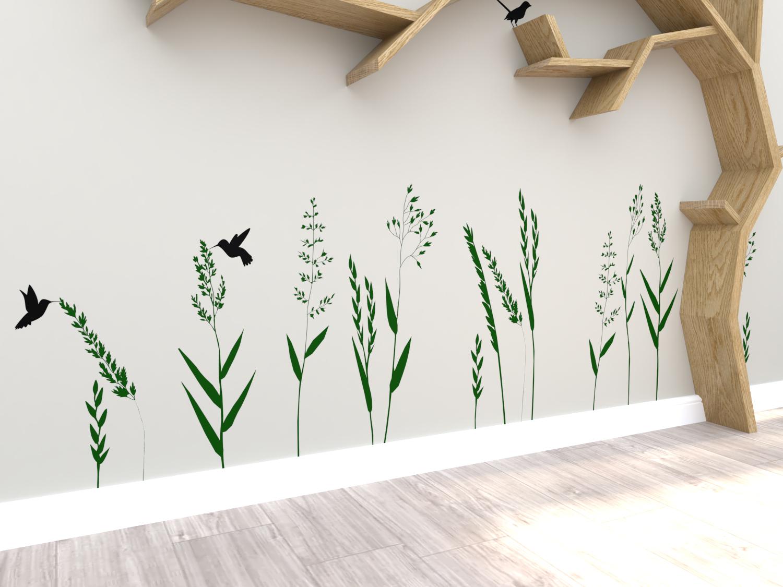 Tree Shelf Wall Decal Set - BespOak Interiors