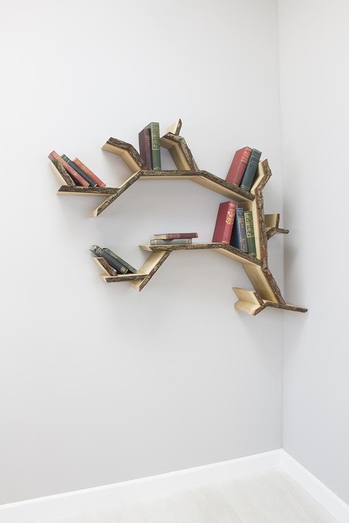 E Mini Oak Branch Shelf Small Branch Shelf Design By