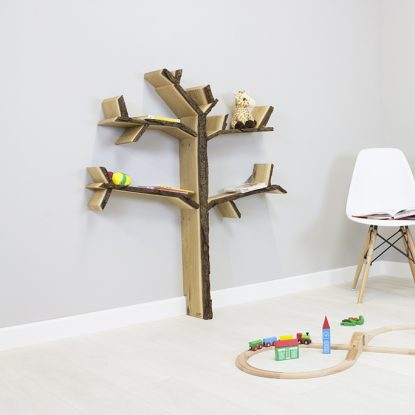 childrens room shelf oak tree shelf product image