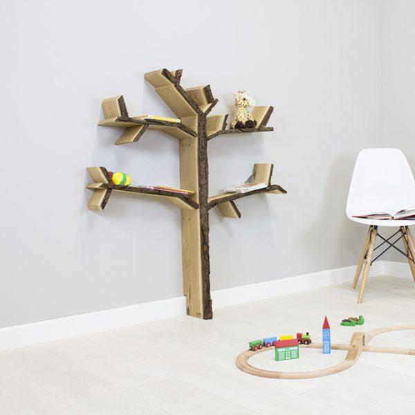 childrens room shelf oak tree shelf product image