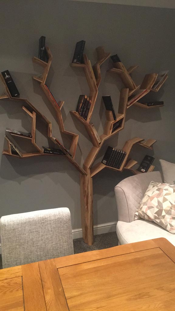 The old oak tree shelf a detailed and intricate tree for Tree shelving unit