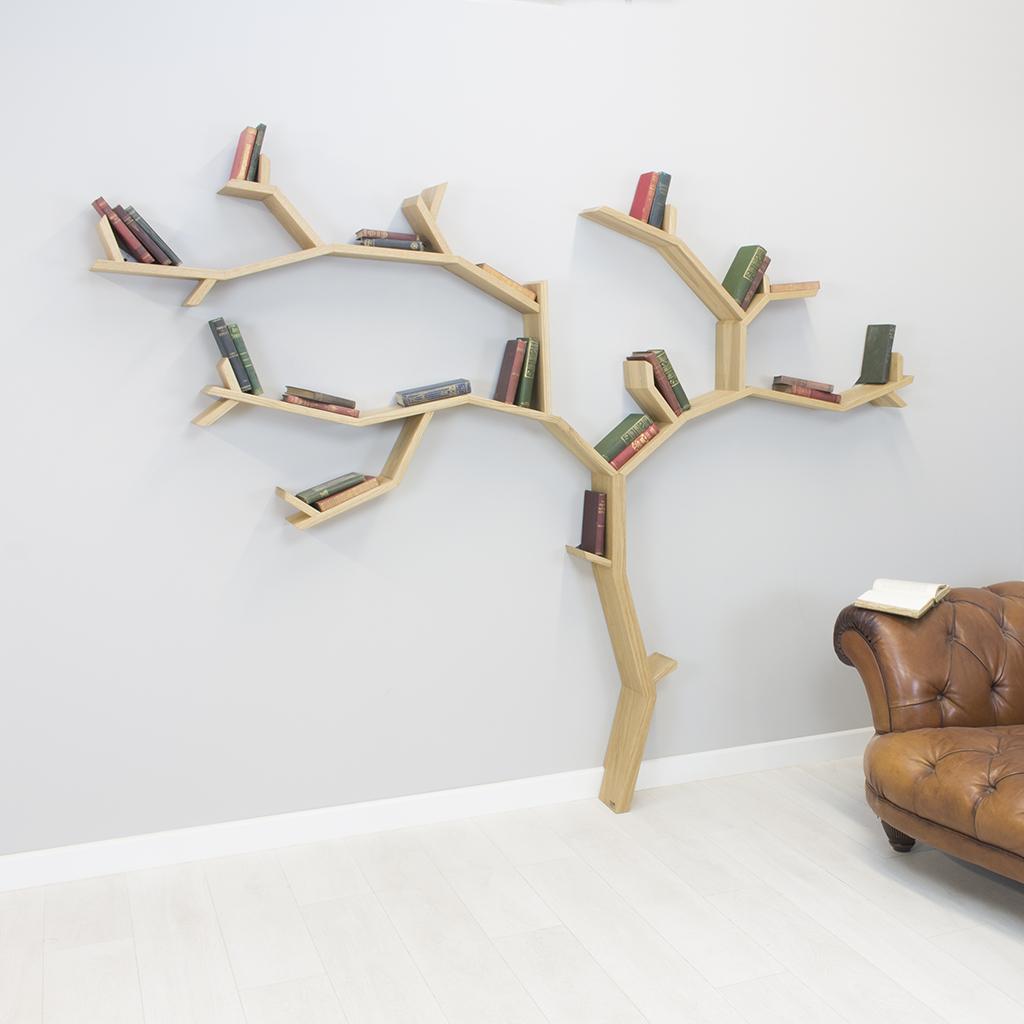 solid oak wall whelf the beech tree product image