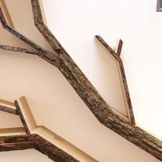 feature wall design by bespoak interiors a tree shelf installation