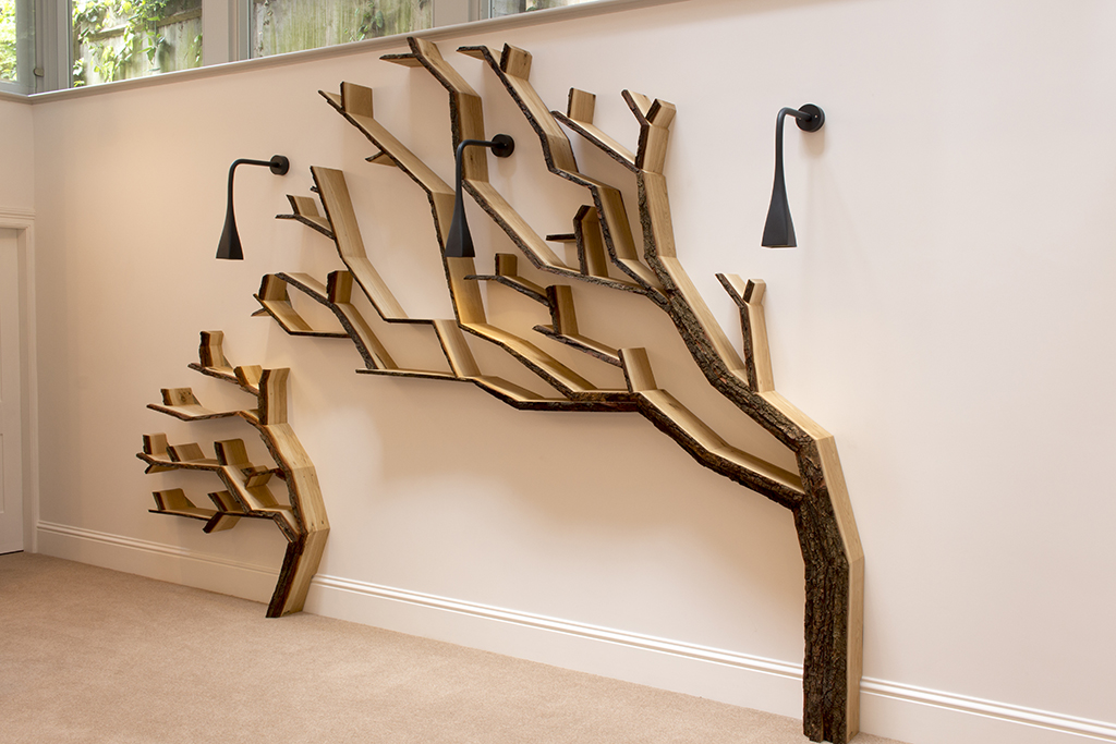 Wall Art Tree Shelf Design And Installation By Bespoak Interiors