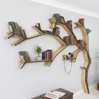oak tree shelf windwept oak tree bookcase shelf product image