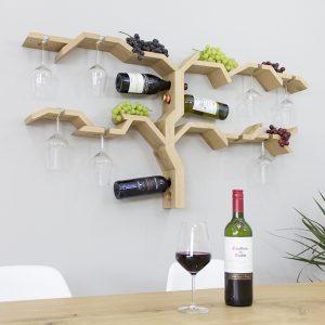 wall mounted glass rack grape vine