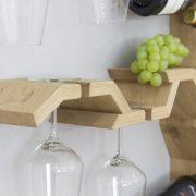 wall mounted wine glass rack grape vine