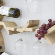 wine glass rack wall mounted grape vine