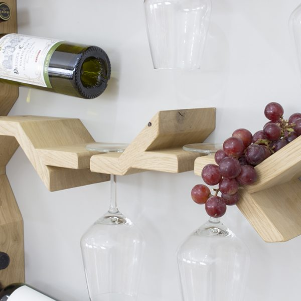 wine glass rack wall mounted grape vine