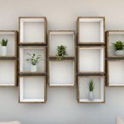 Square Shelves Cube shelves white painted dark oak cube shelf_Straight Shot Mid