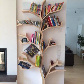 elm tree bookshelf custom design in canadian maple