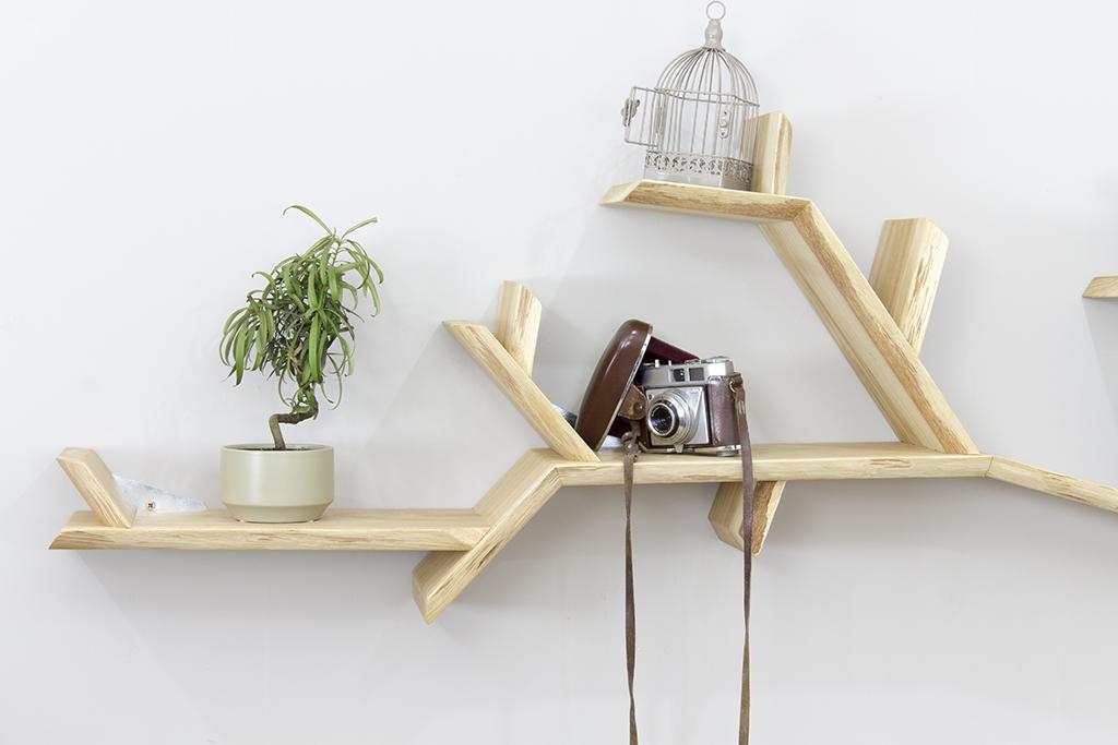 Oak Tree Bookshelf Solid Branch Shelf