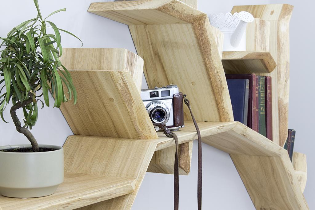 Tree Bookshelf Oak Branch Shelf