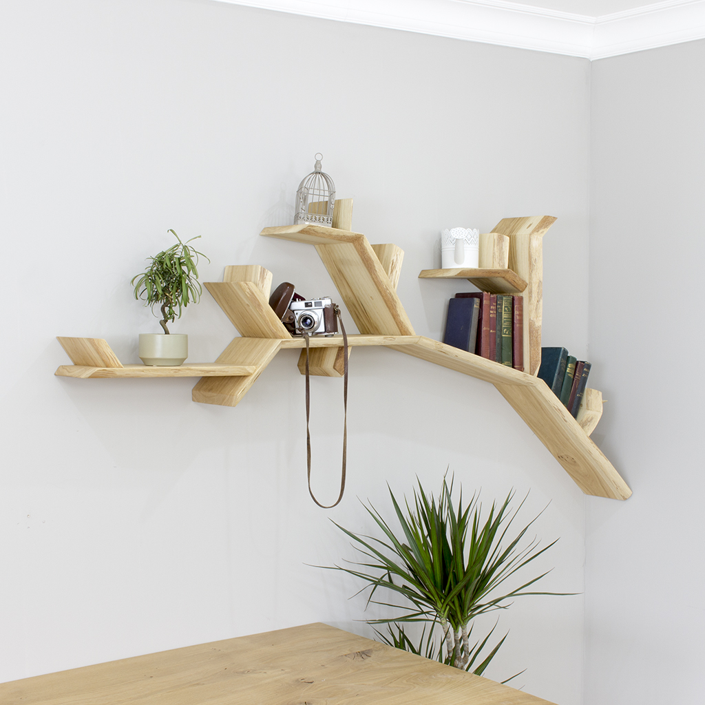 Tree Bookshelf Solid Oak Branch Shelf
