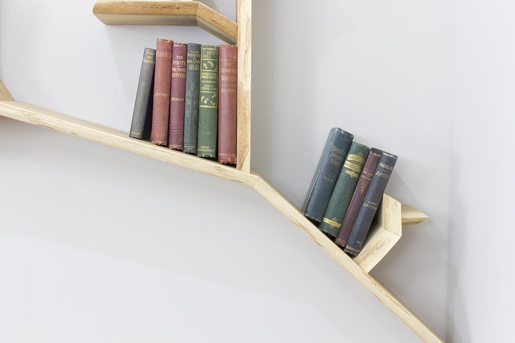 Tree Bookshelf Solid Wood Shelf Branch