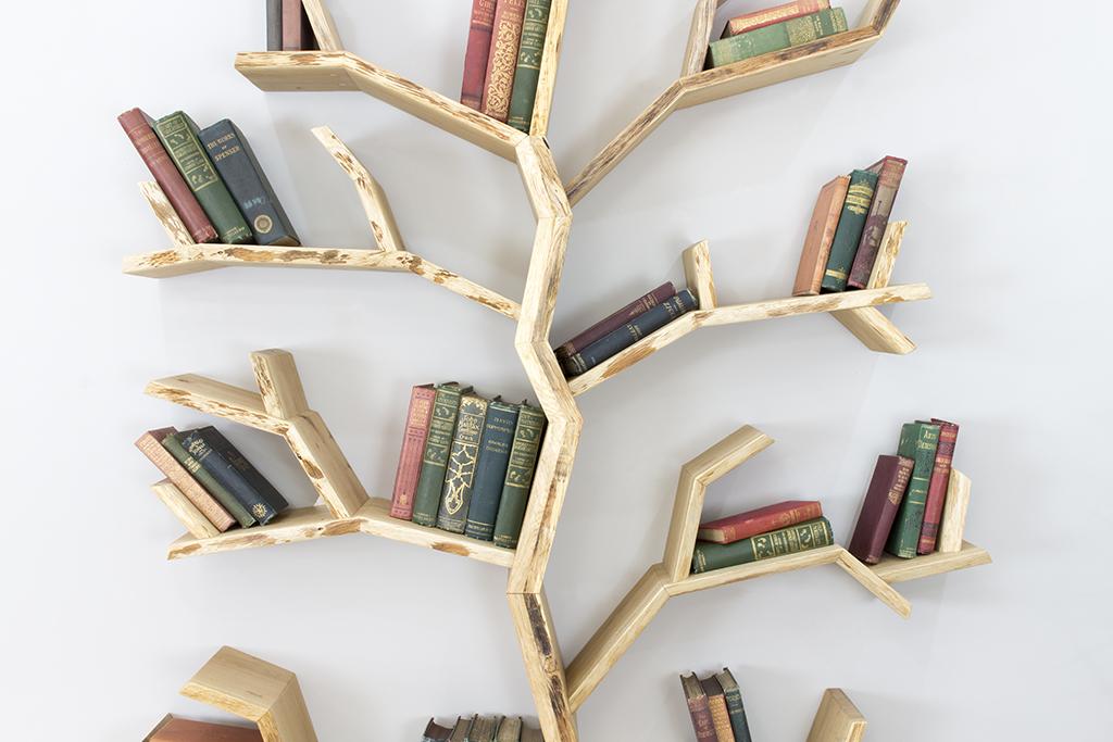 spacious wood display loading image tree bookcase livingroom itm furniture shelves s storage is corner