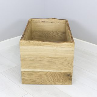 oak toy boxes open waney edge oak storage box