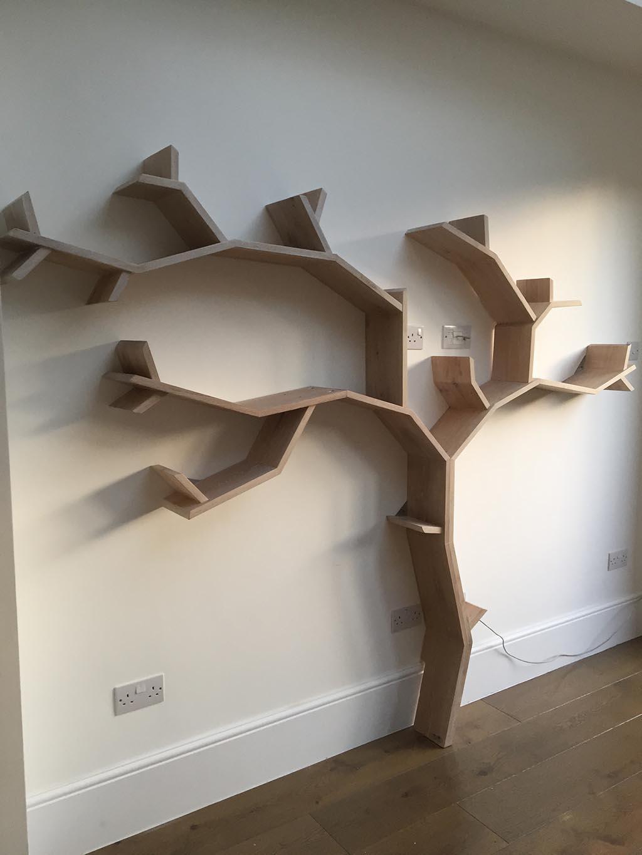 Beech Tree Bookshelf Solid Oak Book Bespoak Interiors