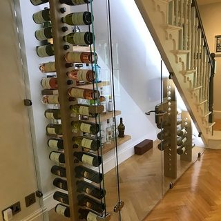 custom made wine bottle rack by bespoak interiors