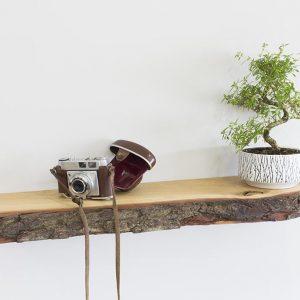 Bark Edge Oak Floating Shelves Sale