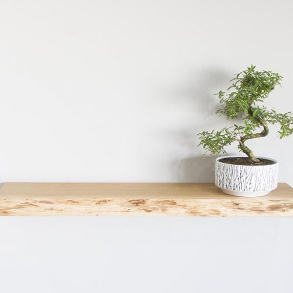 oak floating shelf oiled waney edge oak floating shelves