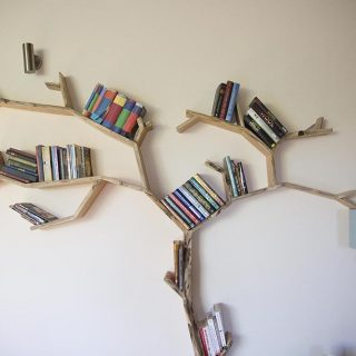 tree bookcase beech tree shelf waney edge bookshelf tree by bespoak interiors