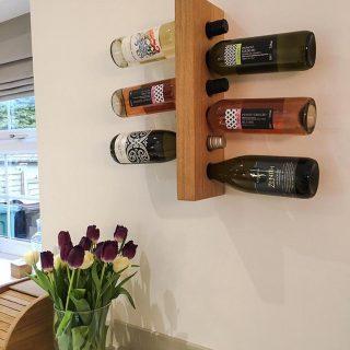 wall mounted wine bottle rack