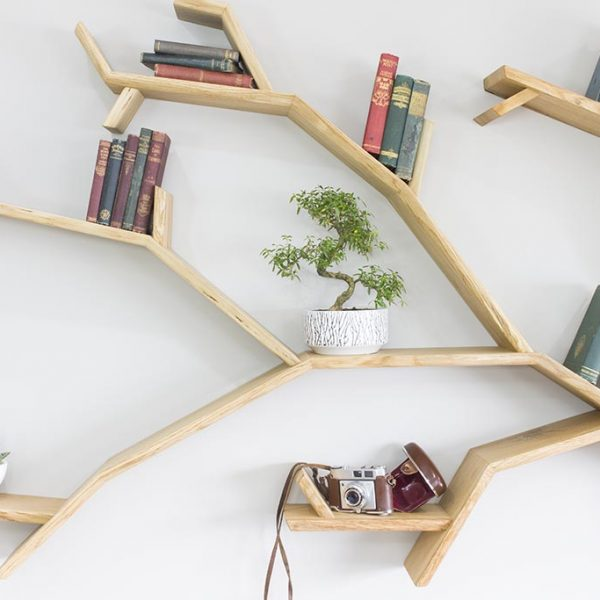 oak tree bookcase windswept oak tree bookshelf by bespoak interiors
