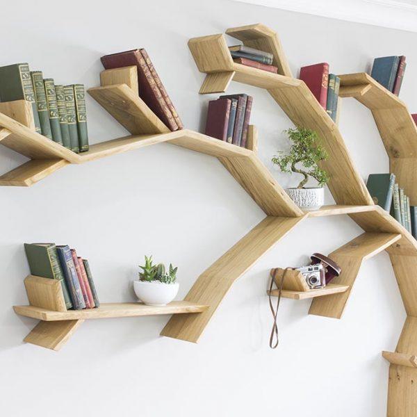 oak tree bookshelf windswept oak tree bookcase by bespoak interiors