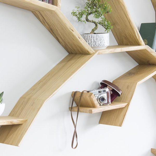 oak tree bookshelf windswept oak tree bookshelf by bespoak interiors