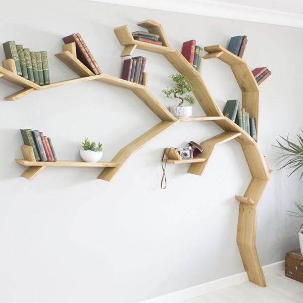 tree bookcase windswept oak tree bookshelf by bespoak interiors