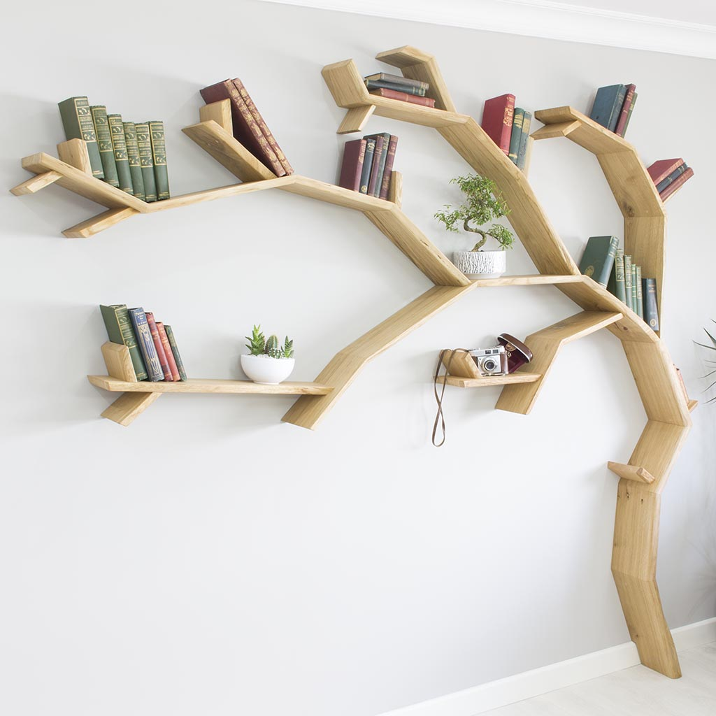 The Windswept Oak Tree Bookshelf Tree Bookcase Tree