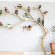 tree bookshelf windswept oak tree bookshelf by bespoak interiors