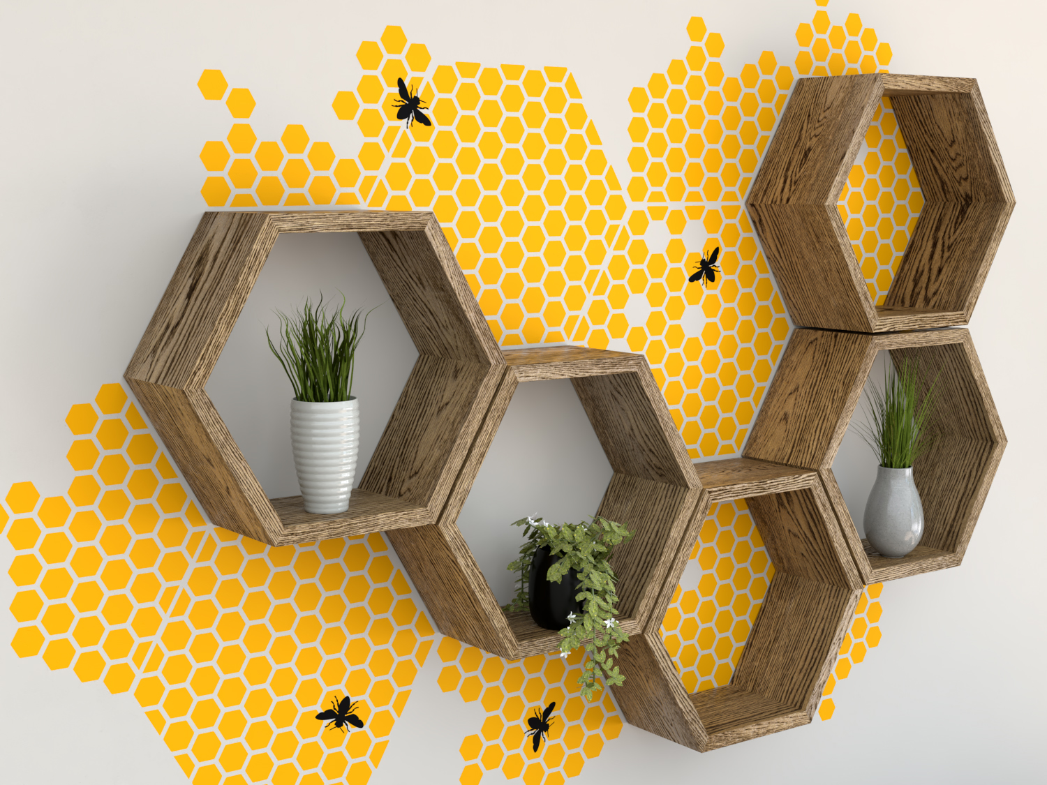 Colorful Honeycomb Wall Decor Gift - Wall Painting Ideas ...