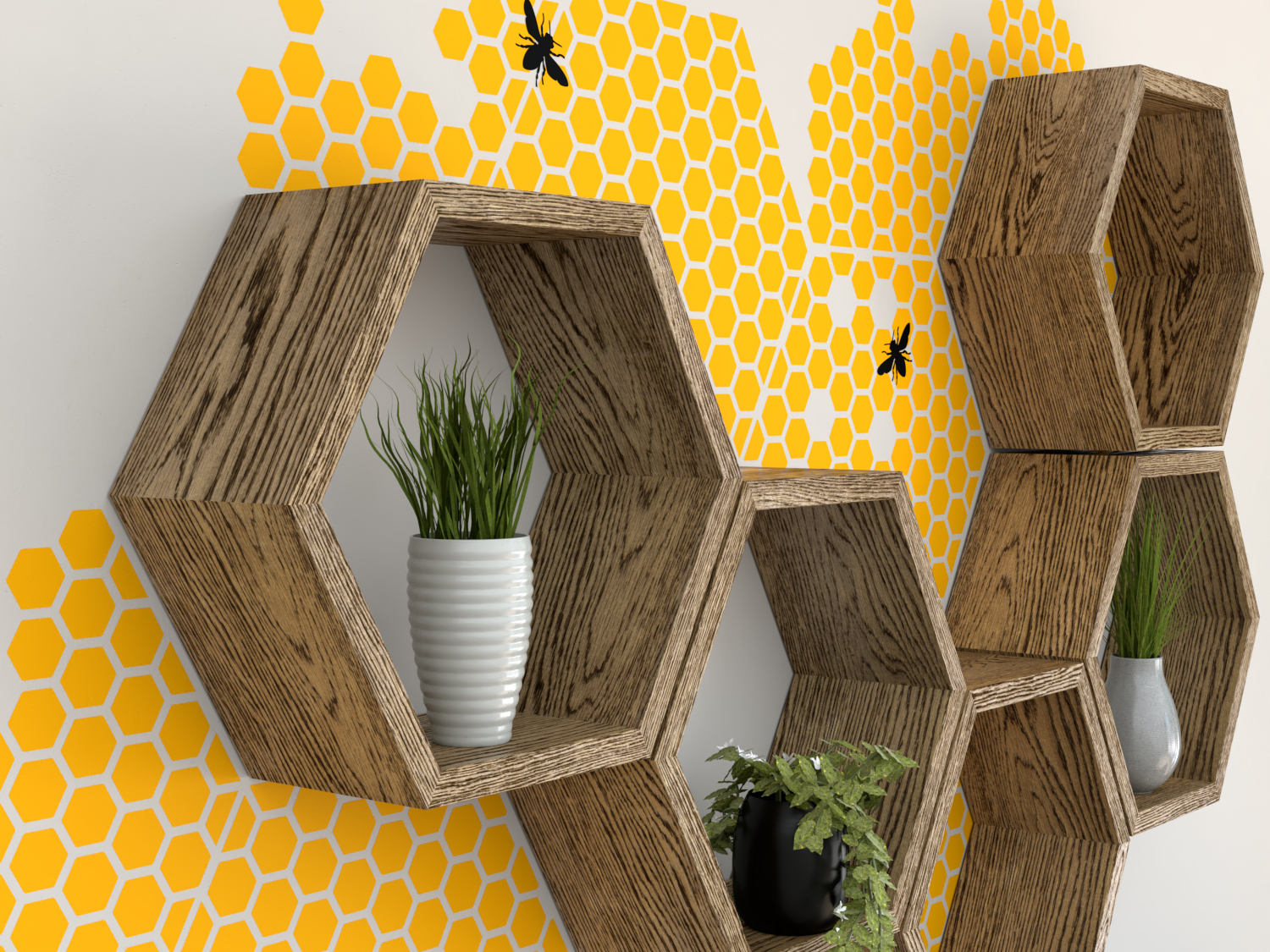 Vinyl Wall Decal Wall Stickers Honeycomb Decal Wall