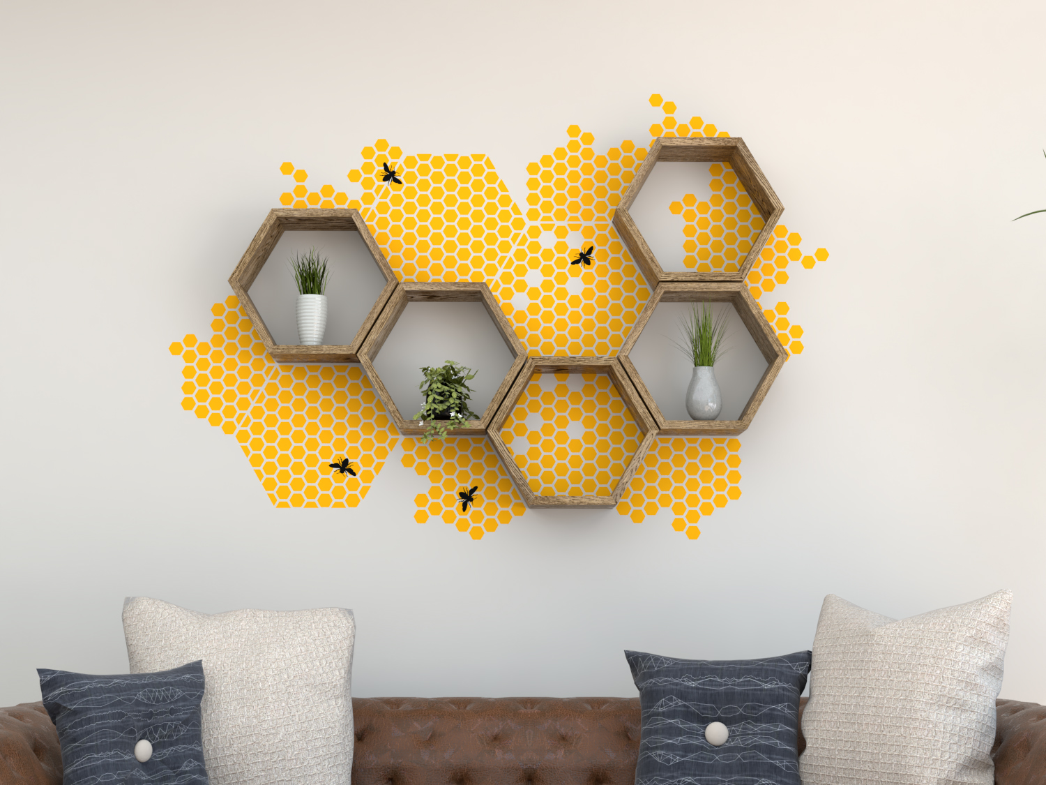 Vinyl Wall Decal | Wall Stickers | Honeycomb Decal