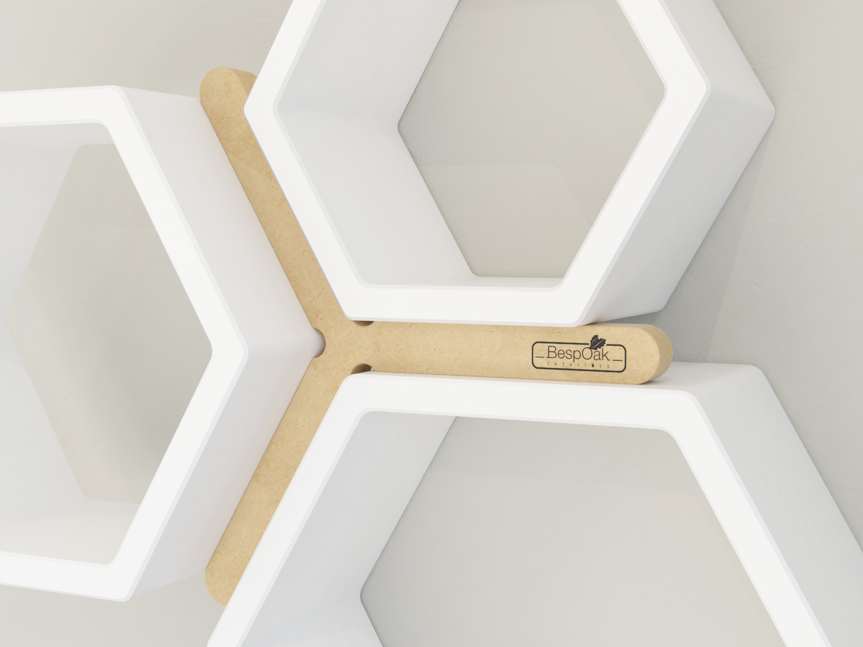 BespOak Interiors Hexagon Shelf Alignment Tool