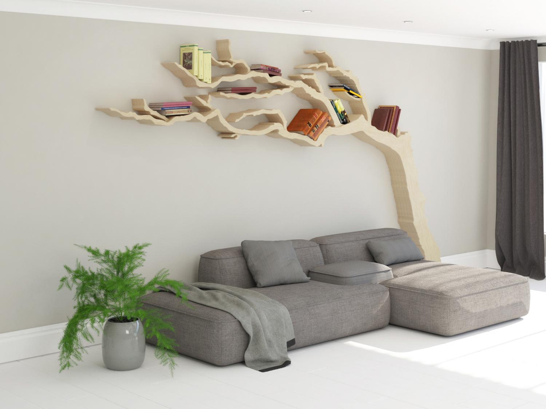 The cornish windswept tree shelf tree bookcase book for Tree of life bookshelf