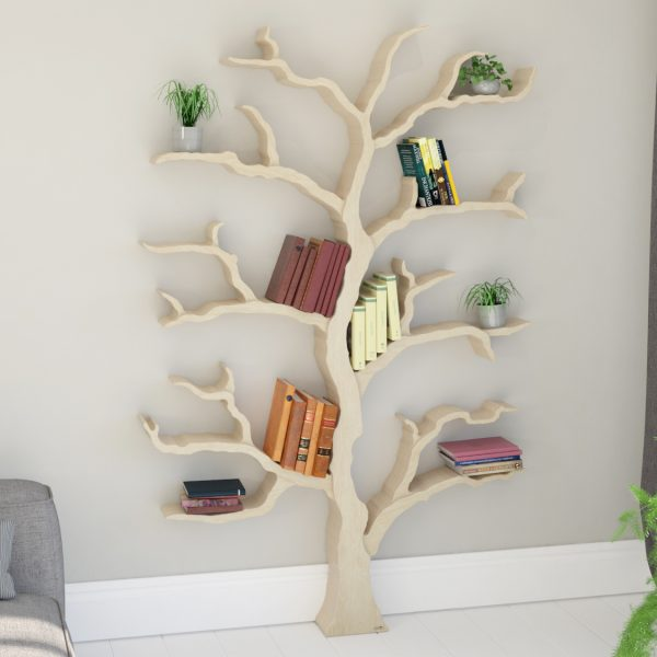 finish in bookcase grey babyletto tree products spruce