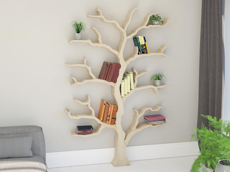 Wonderful Tree Bookcase Part - 13: The Cotswold Elm Tree Shelf