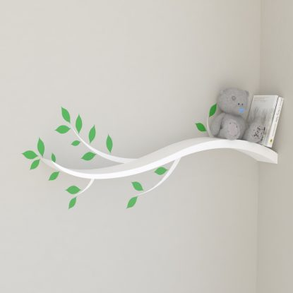 Nursery shelves kids bookshelf nursery bookshelf sweeping tree branch shelf wall decal white tree shelf nursery shelf