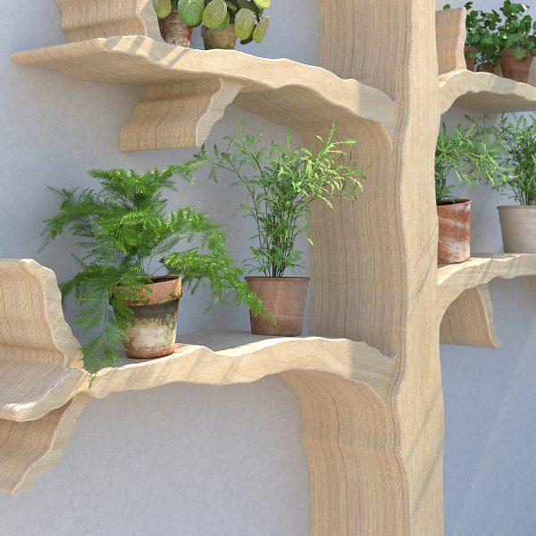 Tree shelf outdoor shelf outdoor shelving wall feature tree shelf garden shelves wiltshire oak tree shelf