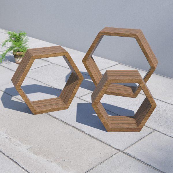 garden shelves outdoor shelving hexagon shelves set