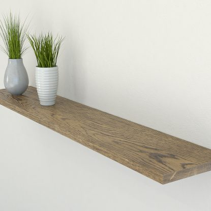 dark oak floating shelf slimline shelves oak wall shelf solid oak shelf