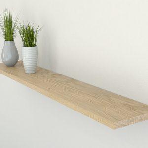 oiled oak floating shelf shelves slimline oak wall shelf solid oak shelf